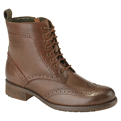 Barbour Thirston Leather Brogue Lace Up Boots £129.00 AT vintagedancer.com