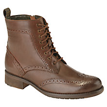 Buy Barbour Thirston Leather Brogue Lace Up Boots Online at johnlewis.com