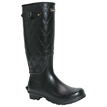 Buy Barbour Setter Quilted Wellington Boots, Black Online at johnlewis.com