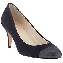 Buy John Lewis Made in England Axbridge Suede Court Shoes, Navy Online at johnlewis.com