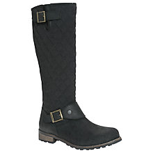 Buy Barbour Hoxton Quilted Leather Knee High Boots Online at johnlewis.com