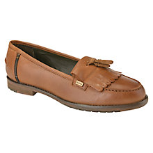Buy Barbour Lauren Fringe Loafers, Tan Leather Online at johnlewis.com