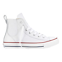 Buy Converse Chuck Taylor All Star Leather Chelsea Trainers, White Online at johnlewis.com