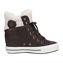 Buy Converse Chuck Taylor Platform Collar Suede Trainers, Burnt Umber Suede Online at johnlewis.com
