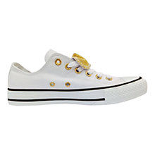 Buy Converse Chuck Taylor All Star Double Fabric Trainers, White Online at johnlewis.com