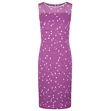 Buy Jacques Vert Spot Layer Dress, Pressed Flower Online at johnlewis.com