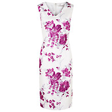Buy Jacques Vert Petite Floral Shift Dress, White/Purple Online at johnlewis.com