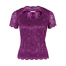 Buy Jacques Vert Petit Jersey Top, Bright Purple Online at johnlewis.com