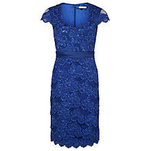 Buy Jacques Vert Petite Lace Dress, Blue Online at johnlewis.com