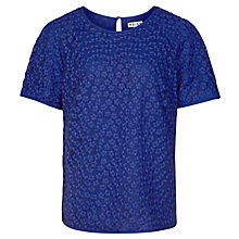 Buy Reiss Norico Sheer Lace Top Online at johnlewis.com
