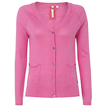 Buy White Stuff Island Linen-Blend Cardigan, Hibiscus Pink Online at johnlewis.com