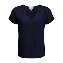 Buy Pure Collection Linen Laundered Top, French Navy Online at johnlewis.com