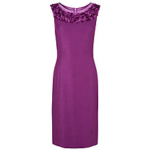 Buy Jacques Vert Petite Flower Dress, Bright Purple Online at johnlewis.com