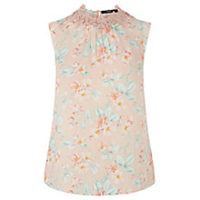 Buy Oasis Lace Trim Bottom Top, Multi White Online at johnlewis.com