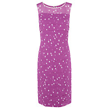 Buy Jacques Vert Petite Spot Dress, Multi Purple Online at johnlewis.com
