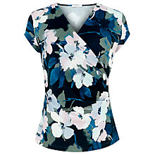 Buy Kaliko Floral Wrap Top, Multi Green Online at johnlewis.com