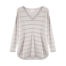 Buy East Linen Metallic Stripe Jumper Online at johnlewis.com