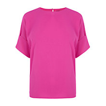 Buy Oasis T-shirt, Bright Pink Online at johnlewis.com