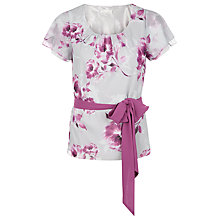 Buy Jacques Vert Peony Floral Blouse, Multi Grey Online at johnlewis.com