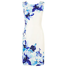 Buy Jacques Vert Petite Flower Dress, Multi Cream Online at johnlewis.com