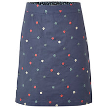 Buy White Stuff Crazy Dot Skirt, Dark Thunder Blue Online at johnlewis.com