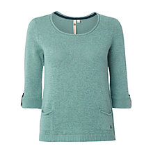 Buy White Stuff Barnie Pocket Jumper, Ceramic Blue Online at johnlewis.com