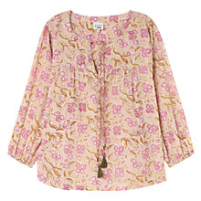 Buy East Sharma Tassel Blouse, Pale Pink Online at johnlewis.com