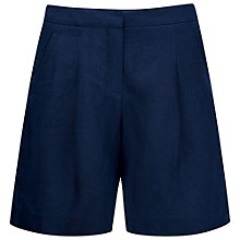 Buy Pure Collection Linen Laundered Shorts, Dark Chambray Online at johnlewis.com