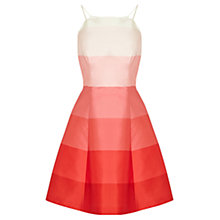 Buy Coast Bella Stripe Dress, Coral Online at johnlewis.com
