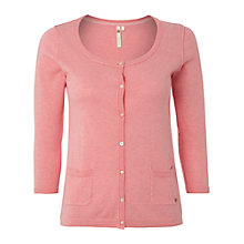 Buy White Stuff Block Cardigan, Cantaloupe Pink Online at johnlewis.com