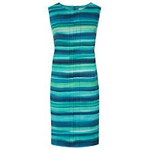 Buy Kaliko Linen Blend Stripe Dress, Multi Green Online at johnlewis.com