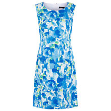 Buy Precis Petite Watercolour Floral Print Dress, Aqua Online at johnlewis.com