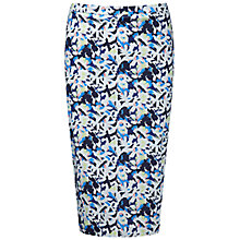 Buy Pure Collection Floral Print Pencil Skirt, Blue/Multi Online at johnlewis.com