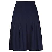 Buy Kaliko Linen Blend Flippy Skirt, Navy Online at johnlewis.com