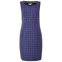 Buy White Stuff Square Embroidery Dress, Uniform Blue Online at johnlewis.com