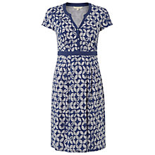 Buy White Stuff Justine Cotton Dress, Uniform Blue Online at johnlewis.com