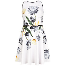 Buy Ted Baker Symone Paper Petals Skater Dress, White Online at johnlewis.com