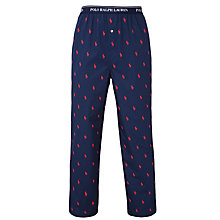 Buy Polo Ralph Lauren Allover Pony Print Pyjama Bottoms, Blue Online at johnlewis.com