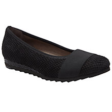 Buy Gabor Chenny Wide Fit Nubuck Pumps, Black Online at johnlewis.com