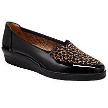 Buy Gabor Blanch Wide Fit Patent Wedge Pumps Online at johnlewis.com