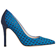 Buy L.K. Bennett Inferna Toe Point Stiletto Court Heels, Turquoise Suede Multi Online at johnlewis.com