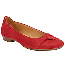 Buy Gabor Frost Suede Knot Pumps, Red Online at johnlewis.com