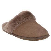 Buy Just Sheepskin Duchess Slippers, Mink Online at johnlewis.com