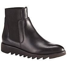 Buy Kin by John Lewis Perline Cleated Sole Ankle Boot, Black Leather Online at johnlewis.com