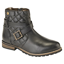Buy Barbour Hetton Quilted Leather Ankle Boots, Black Online at johnlewis.com