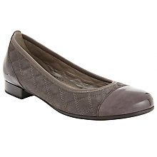 Buy Gabor Goode Suede Quilted Slip On Shoes Online at johnlewis.com