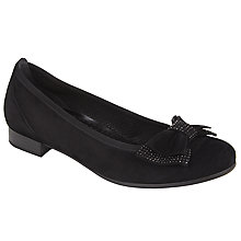 Buy Gabor Marlene Suede Bow Pumps, Black Online at johnlewis.com