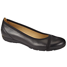 Buy Gabor Evangeline Leather Slip On Shoes Online at johnlewis.com