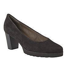 Buy Gabor Patchouli Block Heeled Court Shoes, Black Nubuck Online at johnlewis.com