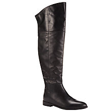 Buy Kin by John Lewis Seline Long Leather Knee Boots, Black Online at johnlewis.com